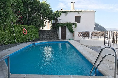 Swimming pool and other activities at our holiday cottage in Bubión