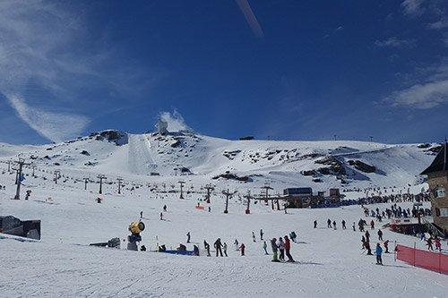 The Sierra Nevada ski resort is about an hour and a half from Bubión